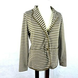 Investments  Blazer 12 Brown Striped Jacket Knit